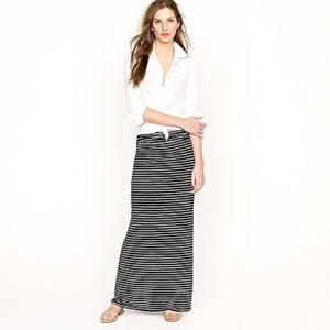 J. Crew Black & White Striped Skirt-Size Small